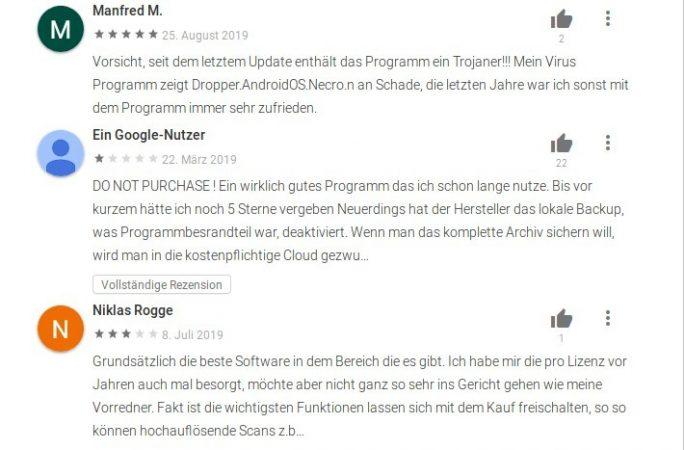 Kaspersky entdeckt Malware in CamScanner: Nutzer warnen (Screenshot: ZDNet.de)
