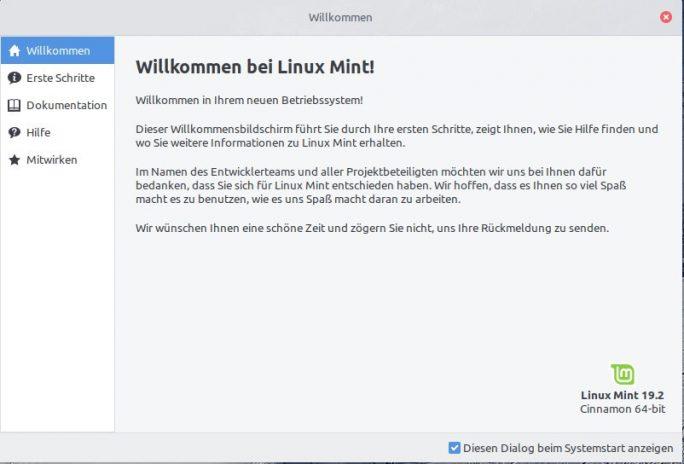 Mint-Update auf 19.2 abgeschlossen (Bild: ZDNet.de)