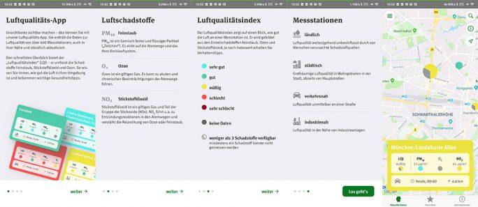 Umweltbundesamt (UBA): Luftqualität (Screenshot: ZDNet.de)
