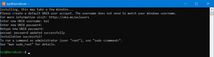WSL: Nutzer anlegen und Passwort vergeben (Screenshot: ZDNet.de)
