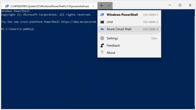 Windows Terminal 0.3: Azure CloudShell (Bild: Microsoft)