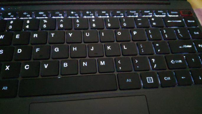 Chuwi Aerobook: Tastatur (Bild: ZDNet.de)
