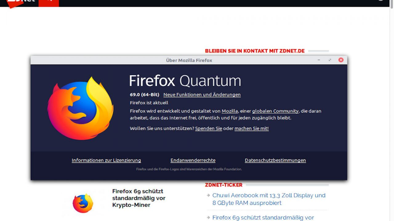 Firefox 69 unter Linux Mint installieren | ZDNet de