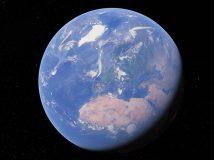 Google Earth mit Wolkenanimation der letzten 24 Stunden