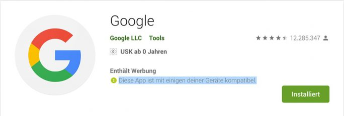 Google-Kompatibilitaet (Screenshot: ZDNet.de)