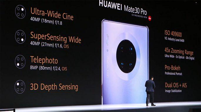 Huawei Mate 30 Pro: Kamera-Specs (Screenshot: ZDNet.de)