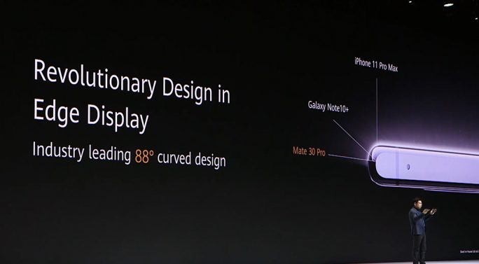 Huawei Mate 30 Pro: Design (Screenshot: ZDNet.de)