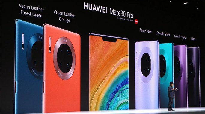 Huawei Mate 30 Pro: Farben (Screenshot: ZDNet.de)
