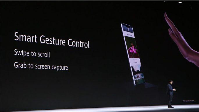 Huawei Mate 30 Pro: Smart Gesture Control (Screenshot: ZDNet.de)