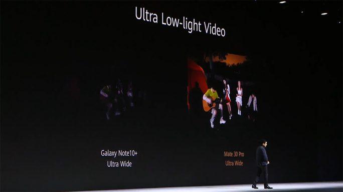 Huawei Mate 30 Pro: Video-Nachtaufnahmen (Screenshot: ZDNet.de)