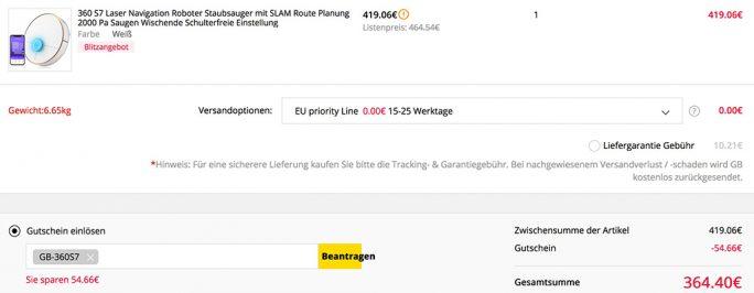 Qihoo 360 S7 bei Gearbest für 364 Euro (Screenshot: ZDNet.de)