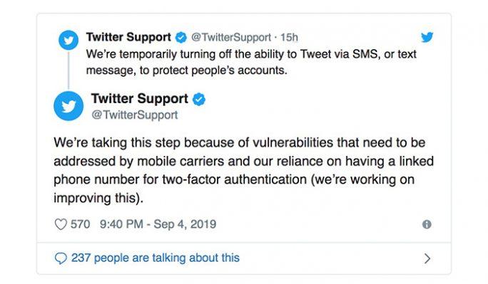 Twitter: SMS-to-Tweet wird deaktiviert (Screenshot: ZDNet.de)