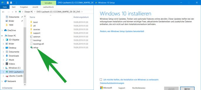 Windows-Installation (Screenshot: ZDNet.de)