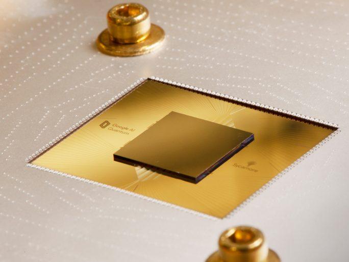 Quantencomputer: Google-Prozessor Sycamore (Bild: Google)