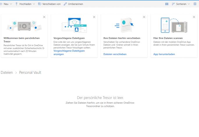 Persönlicher Tersor von OneDrive (Screenshot: ZDNet.de)