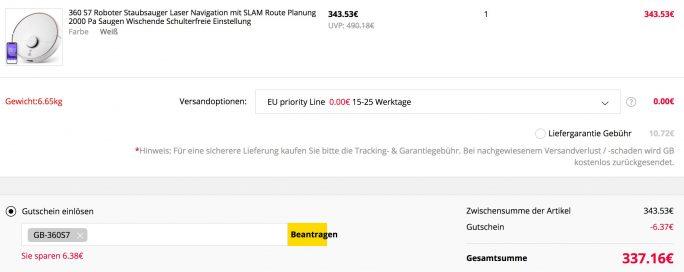 360 S7 für 337 Euro (Screenshot: ZDNet.de)