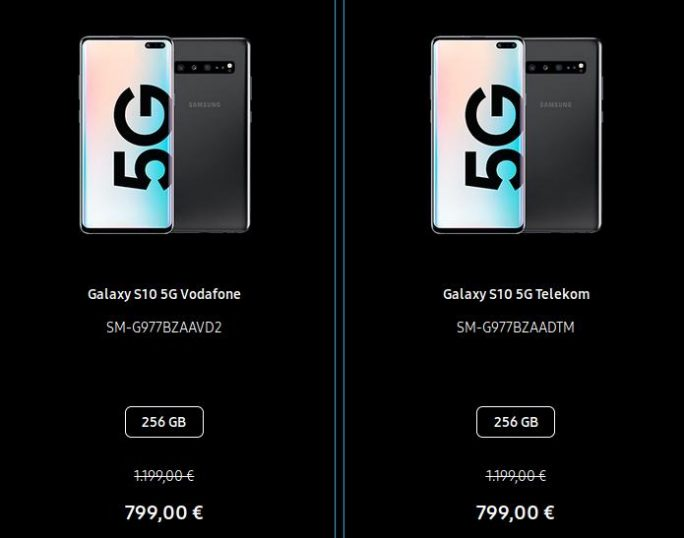 Galaxy S10 5G: 400 Euro günstiger (Screenshot: ZDNet.de)