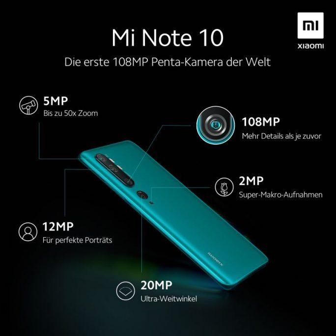 Mi Note 10: Kamera (Bild: Xiaomi)