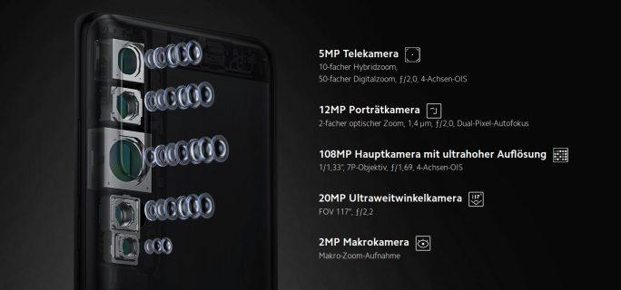 Mi Note 10: Kameras (Bild: Xiaomi)