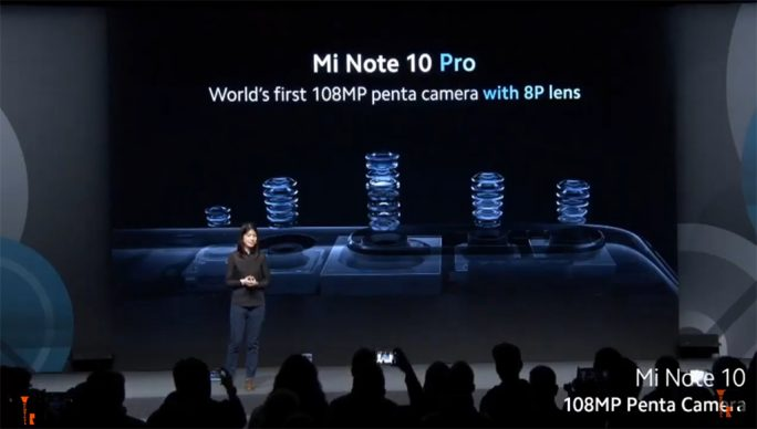 Mi Note 10 Pro: 8P-Objektiv (Screenshot: ZDNet.de)