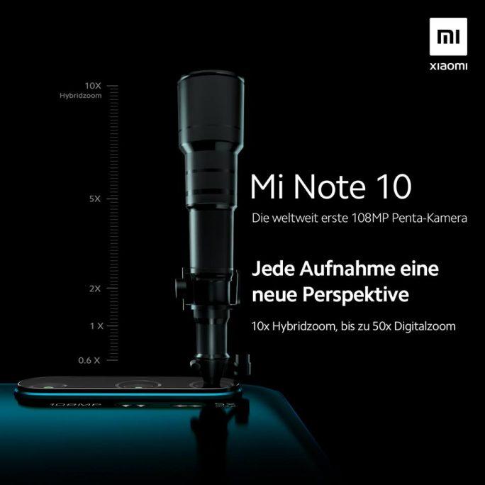 Mi Note 10: Zoom (Bild: Xiaomi)