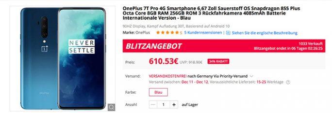 OnePlus 7T Pro 610 Euro (Screenshot: ZDNet.de)