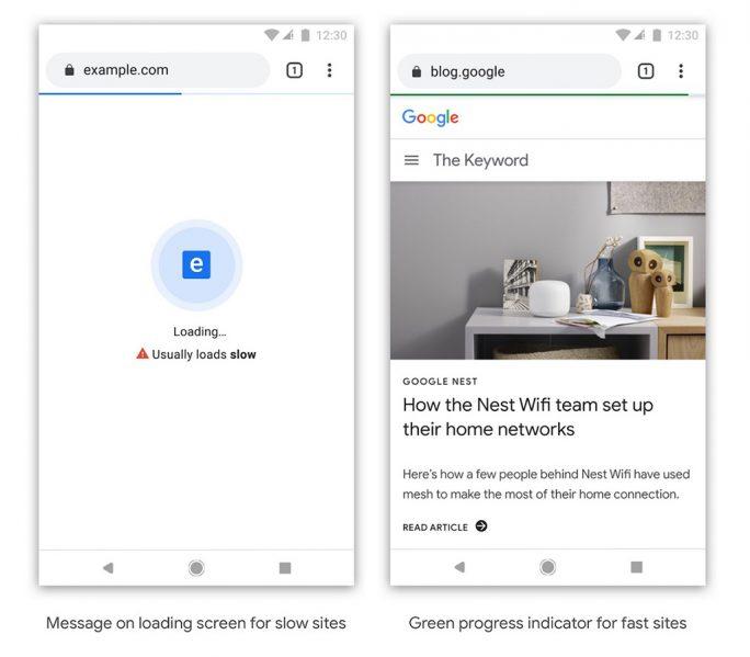 Performance: Chrome soll zukünftig Webseiten kennzeichnen (Bild: Google)
