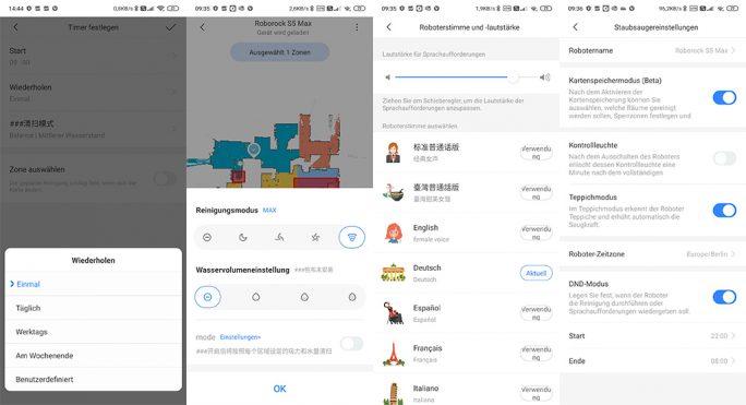 Mit der Roborock-App lässt sich der S5 Max bequem steuern. Wer Alexa nutzt, kann den Reinigungsvorgang über die Spracheingabe starten (Screenshot: ZDNet.de).
