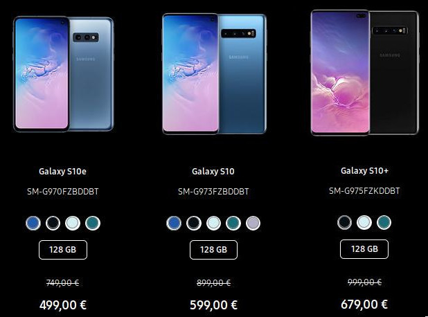 Samsung Galaxy S10: Black-Friday (Screenshot: ZDNet.de)