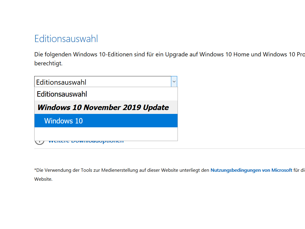 Windows 10 1909 November-2019-Update wird ausgeliefert