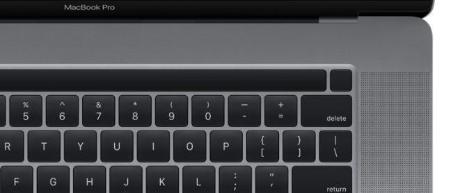 MacBook Pro mit 16-Zoll-Bildschirm und Einschalt-Taste mit integriertem Fingerabdruck-Sensor (Bild: 9TO5Mac).