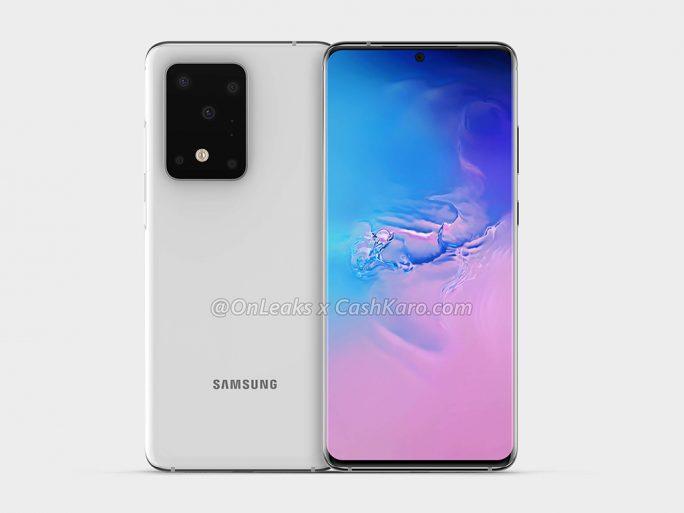 Galaxy S11+ (Rendering von CashCaro und OnLeaks).