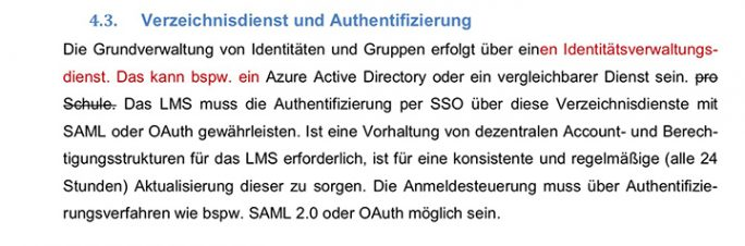 Screenshot: Korrigierte Ausschreibung (Screenshot: ZDNet.de)