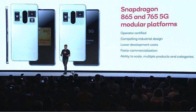 Qualcomm Snapdragon 865 und Snapdragon 765 (Bild: Qualcomm).