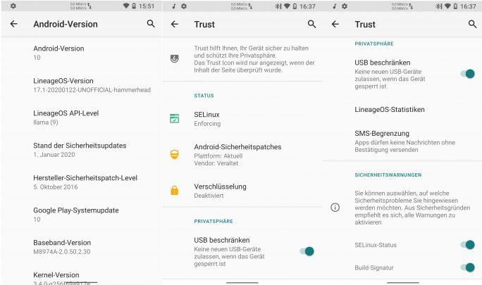 Nexus-5-SELinux (Screenshot: ZDNet.de)
