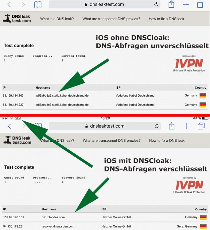 DNSLEAK-TEST (Screenshot: ZDNet.de)