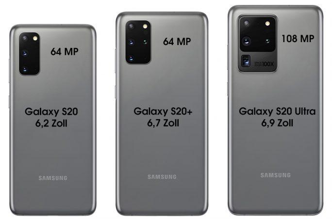 Galaxy-S20-Serie (Bild: ZDNet.de, Evleaks)