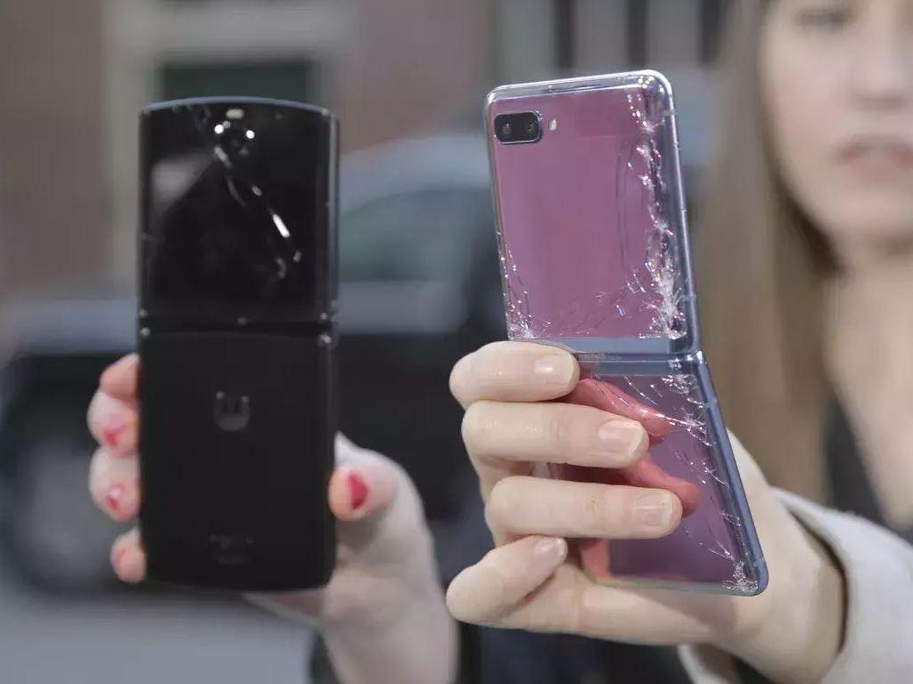 Falltest: Samsung Galaxy Z Flip und Motorola Razr scheitern schon bei einem Meter