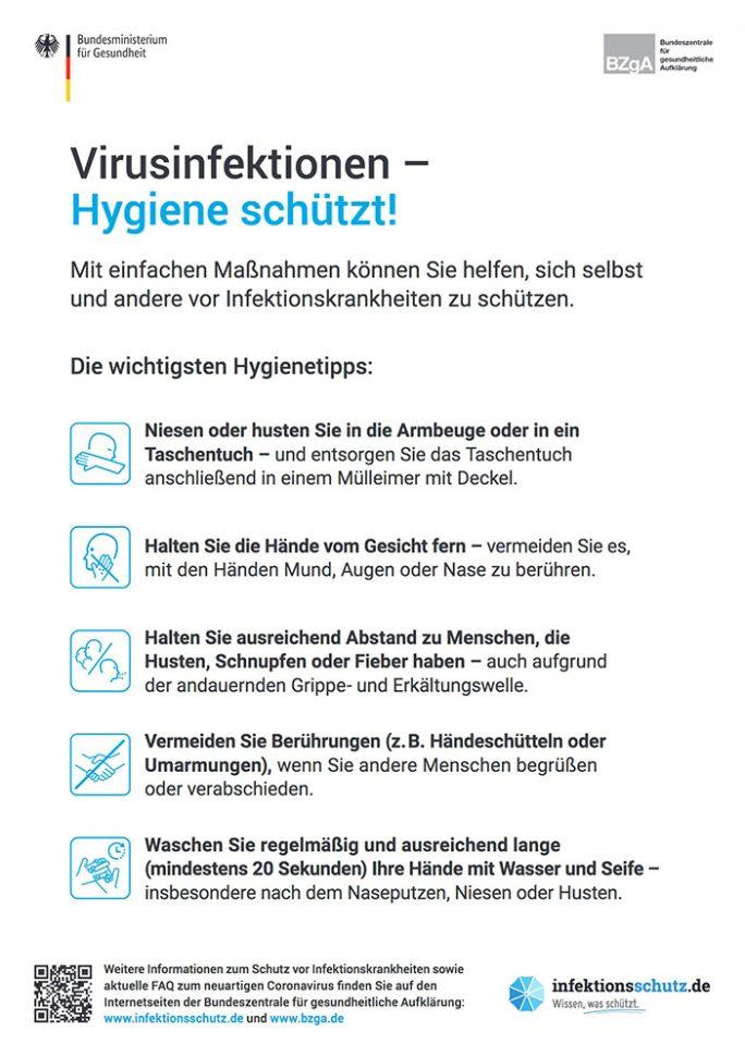 COVID-19: Schutzmaßnahmen (Screenshot: ZDNet.de)