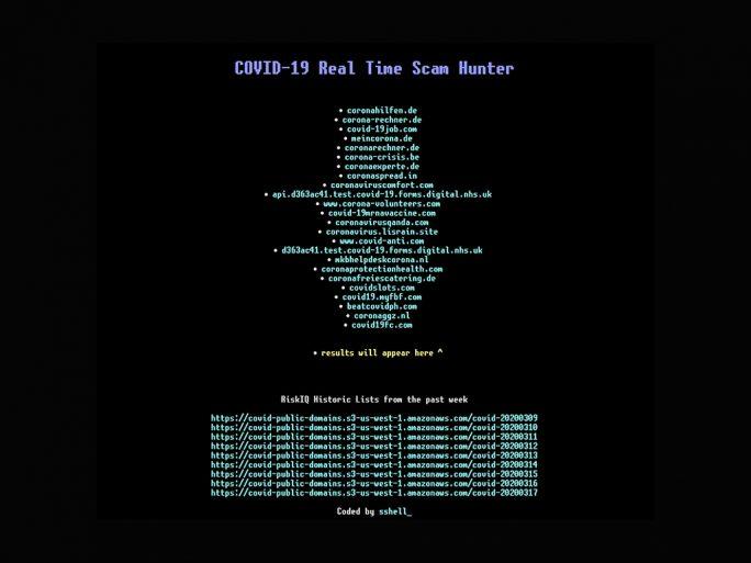 Cyberkriminelle registrieren täglich Tausende betrügersiche Webseiten mit Bezug zum neuartigen Coronavirus (Screenshot: ZDNet.de).