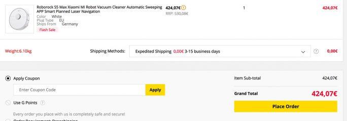 Roborock S5 Max für 424 Euro (Screenshot: ZDNet.de)