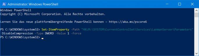 SMB-v3: Kompression ausschalten (Screenshot: ZDNet.de)