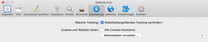 Safari 13.1 blockiert standardmäßig Drittanbieter-Cookies (Screenshot: ZDNet.de)