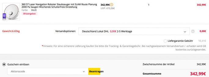 360 S7 für 343 Euro (Screenshot: ZDNet.de)