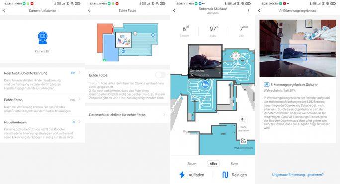 Roborock S6 MaxV: Ansehen von echten Fotos in der App (Screenshot: ZDNet.de)