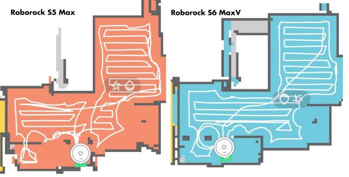 Roborock S6 MaxV: Verbesserte Reinigungsstrategie (Bild: ZDNet.de)