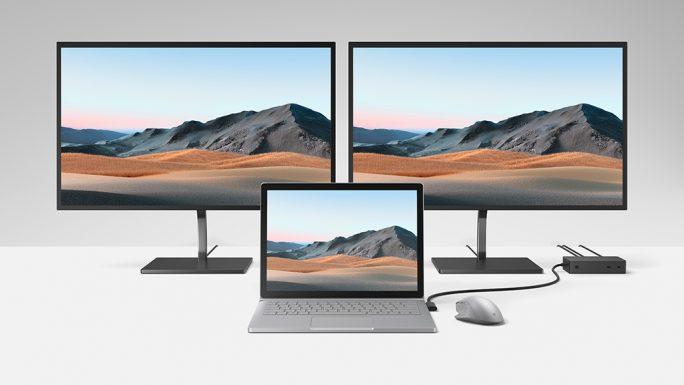 Surface Book 3 mit Dock 2 (Bild: Microsoft)