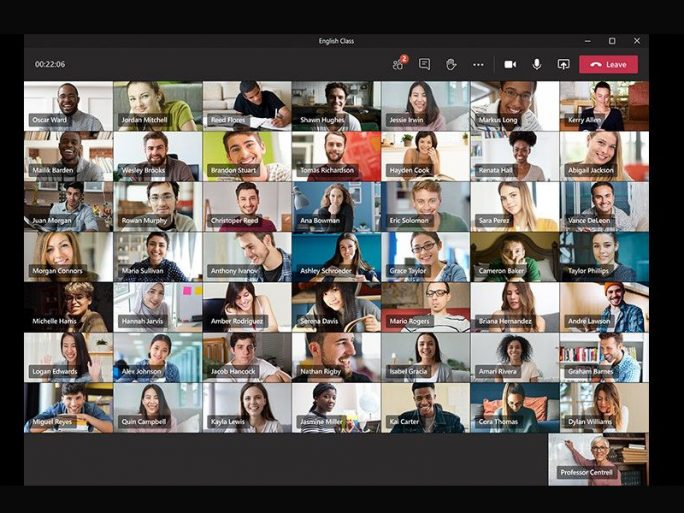 Microsoft Teams 7x7-Screen (Bild: Microsoft)