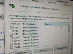Druckeranschlüsse (Bild: ZDNet.de)