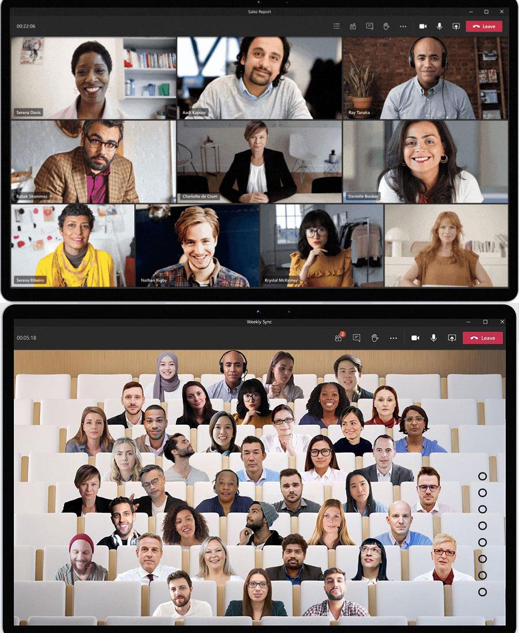 Videokonferenz im virtuellen Hörsaal: MS Teams jetzt mit Together Mode